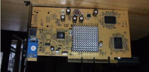 GeForce4 MX440 AGP 64MB DDR TV-Out Video Card - $10.00