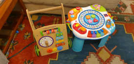 Baby walker wooden and toddler activity table