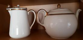Tea Pot and Jug.