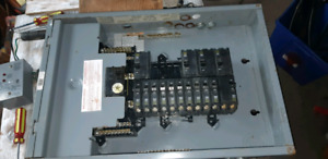 100 AMP Breaker box with breakers and surge protection