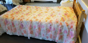 Two vintage twin bed coverlets