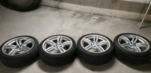 "OEM 19"" BMW wheels style 351 (5x120 8.5j) with summer tires on"