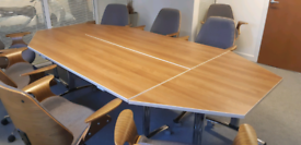 Meeting Room Table, Chairs and Credenza