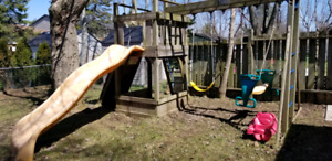Rainbow Play System Playset plus Baby Swing