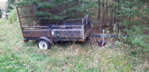 INSPECTED UTILITY TRAILER WITH DRIVE ON ATV,etc. RAMP/TAIL GATE