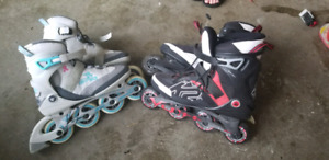 Mens and womans K2 roller blades