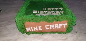 💚 Minecraft Fake Artificial Birthday Cake 💚