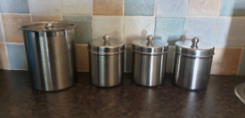 Kitchen set coffee, tea, sugar, biscuits canisters/ containers/