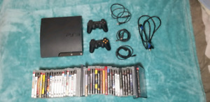 PS3 slim playstation 3 slim with over 40 games