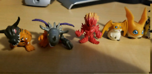 Digimon figures from Bandai