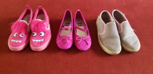 5 pairs girls shoes size 11, 12 and 13