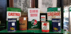 Old Collectable Oil Cans Tins