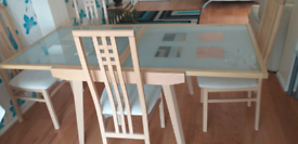 Table and 6 high back chairs