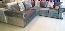 Grey or brown Corner Sofa New Free local delivery