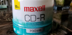 50 pack of 700mb maxell CD-R