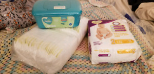 Pampers diapers and wipes.