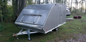 Hybrid snowmobile trailer