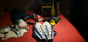 Hockey gear and bag