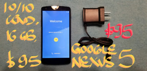 "TRADE or Firm $95 LIKE NEW GOOGLE NEXUS 5 16GB 5""screen"
