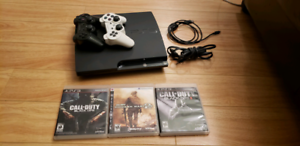 Ps3 with 2 controllers and 3 call of duty games
