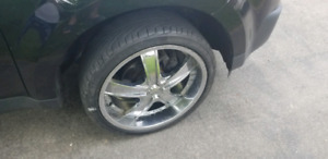 Set of 20 inch rims. With tires