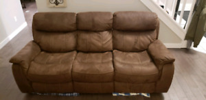 Reclining Sofa and Reclining Glider Chair