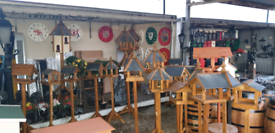 New wild bird Wooden bird table Irish cottage ornament