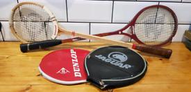 Vintage Squash Rackets (Dunlop, Jaguar)