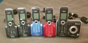 Vtech 5 Handset Connect to Cell Home Phone System w/ Caller ID/C