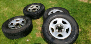 Discover M+S Snow tires 275 70 17 2011 Ford F150 rims
