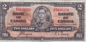 1937 Two Dollar Note