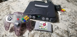 Nintendo 64 with one controller and game and wires tested 100%