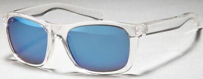 GD Sonnenbrille Wayfarer Transparent / Blue Mirror verspiegelt (Wayfarer Sonnenbrille Blues)