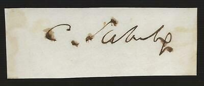 Autograph Civil War Union Senator Charles Sumner of Massachusetts