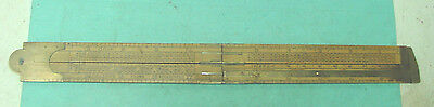 RARE RULE: IRON, COPPER, ROUND IRON SCALES; J. RABONE #1213; 2F/4FMW/ CALIPER. for sale  Alton