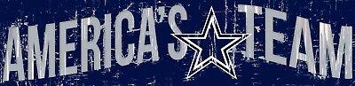 Dallas Cowboys Gifts (Dallas Cowboys AMERICA'S TEAM Football Wood Wall Sign 16
