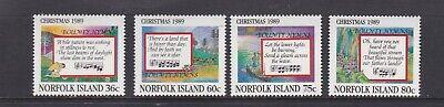 NORFOLK ISLANDS 1989 CHRISTMAS MNH SET OF STAMPS