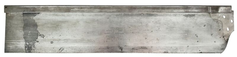 """E.C. Atkins 28"""" x 5"""" Replacement Mitre Saw Plate - For Stanley No. 358 Mitre Box"""
