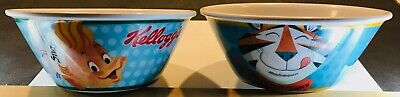Vintage Kellogg's 2014 Cereal Bowls - Tony the Tiger and Snap, Crackle and Pop