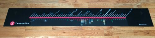 NYCTA NYC SUBWAY MAP IRT  # 2 LINE 7th AVE ROUTE CHANGE LINE STRIP MAP MTA