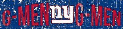 New York Giants G-MEN Football Wood Wall Sign - NEW 16