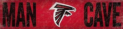 Atlanta Falcons MAN CAVE Football Wood Sign - NEW 16