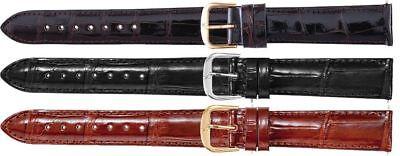 New Men's Long Genuine Louisiana Shiny Alligator Leather Watch Strap - Genuine Louisiana Alligator Strap