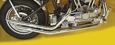 Chrome Upsweep Exhaust Drag Pipe Set Slash Cut Rigid Hardtail Ironhead Harley - Exhaust Drag Pipe