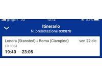 Flight Ticket London to Rome £150