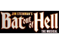 2 x Tickets for BAT OUT OF HELL Tuesday August 22, 2:30pm in London