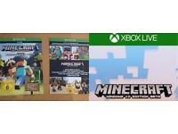 """Minecraft Xbox One Edition (Includes """"Favourites & Builders"""" Packs & Windows 10 Edition Beta) Codes"""