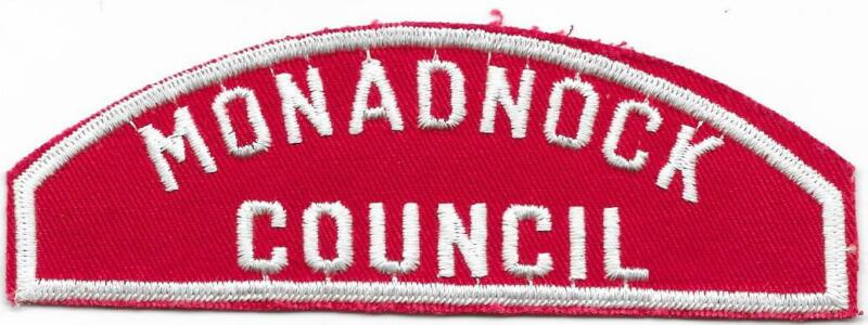 Monadnock Council RWS Red and White Strip Boy Scouts of America BSA