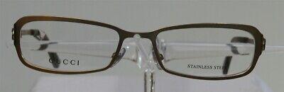 GUCCI GG 2810 Brille Brillengestell Gold Damen Herren Eyeglass Edelstahl NEU