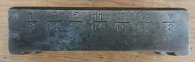 Vintage Machinist-Made 1936 Steel Drill Index 1/8 - 5/16 - Use or RePurpose